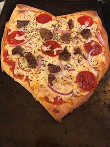 Easy Homemade Heart Shaped Pizza